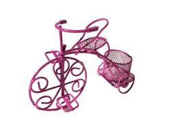 Sepetli Tel Bisiklet Fuşya - Thumbnail