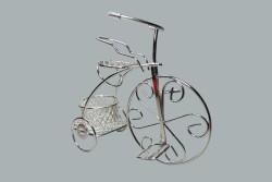 Sepetli Tel Bisiklet Gümüş - Thumbnail