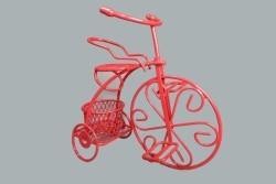 Sepetli Tel Bisiklet Kırmızı - Thumbnail