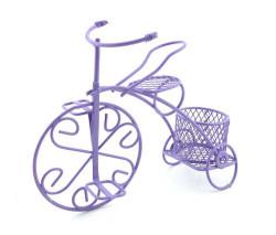 Sepetli Tel Bisiklet Mor - Thumbnail