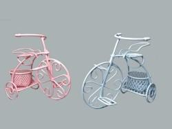 Sepetli Tel Bisiklet Pembe - Thumbnail