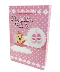 - Hoşgeldin Bebek Karton Çanta Pembe (12x17 cm)