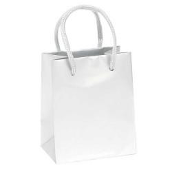 - Karton Çanta Küçük Boy 12x17 Düz Renk Beyaz