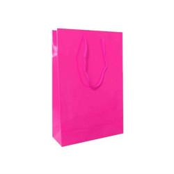 - Düz Renk Fuşya Karton Çanta Küçük Boy (12x17 cm)