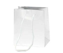 - Düz Renk Beyaz Karton Çanta Minik Boy (11x11 cm)