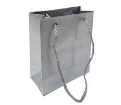 - Düz Renk Gümüş Karton Çanta Minik Boy (11x11 cm)