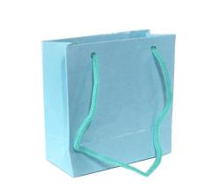 - Düz Renk Mavi Karton Çanta Minik Boy (11x11 cm)