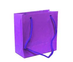 - Düz Renk Mor Karton Çanta Minik Boy (11x11 cm)