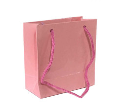 - Düz Renk Pembe Karton Çanta Minik Boy (11x11 cm)