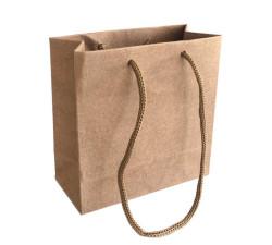 - Düz Renk Naturel Karton Çanta Minik Boy (11x11 cm)