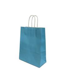 - Mavi Kraft Çanta Küçük Boy (19x24 cm)