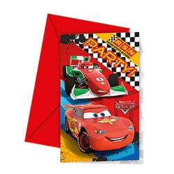 - Cars Formula Davetiye 6'lı Paket