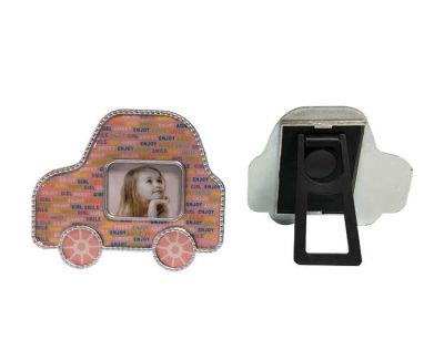 Arabalı Çerçeve Magnet Pembe 2