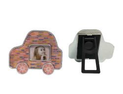 Arabalı Çerçeve Magnet Pembe 2 - Thumbnail