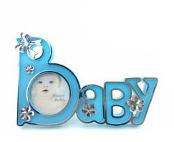 - Baby Yazılı Mavi Çerçeve