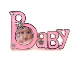 Baby Yazılı Pembe Çerçeve - Thumbnail