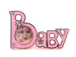 - Baby Yazılı Pembe Çerçeve