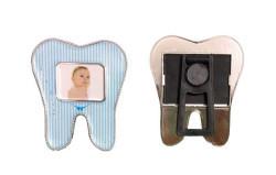 Diş Modeli Magnetli Mavi Çerçeve - Thumbnail