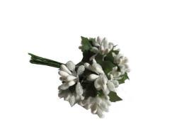 Çiçek Cipso Görünümünde Beyaz - Thumbnail