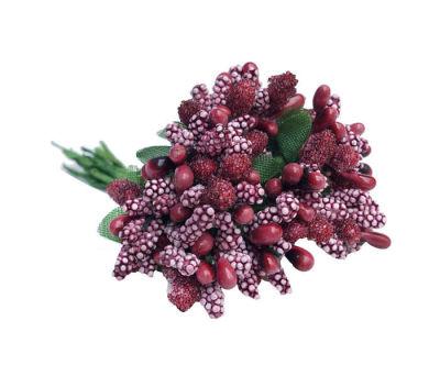 Çiçek Cipso Görünümünde Bordo