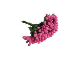 Çiçek Cipso Görünümünde Fuşya - Thumbnail