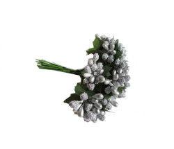 Çiçek Cipso Görünümünde Gümüş