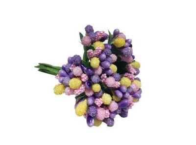 Çiçek Cipso Görünümünde Karışık Renk
