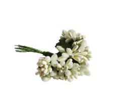 Çiçek Cipso Görünümünde Krem - Thumbnail