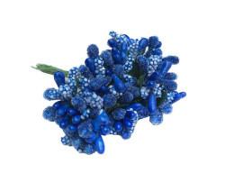Çiçek Cipso Görünümünde Lacivert - Thumbnail