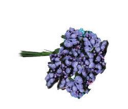 Çiçek Cipso Görünümünde Lila