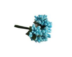 Çiçek Cipso Görünümünde Mavi - Thumbnail