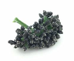 - Çiçek Cipso Görünümünde Siyah