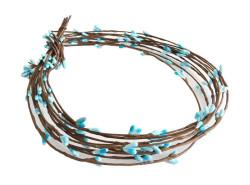 - Çiçek Cipso Mavi 65 cm