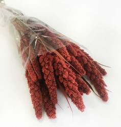 - Doğal Steria Boncuk Kırmızı Çiçek 100 Gr.