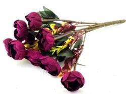 - Çiçek El Buketi Şakayık Kadife Bordo