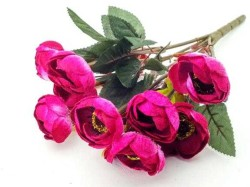 - Çiçek El Buketi Şakayık Kadife Fuşya