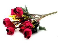 - Çiçek El Buketi Şakayık Kadife Kırmızı