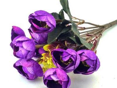 Çiçek El Buketi Şakayık Kadife Mor