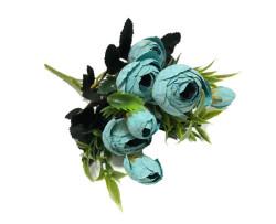 - Çiçek El Buketi Şakayık Modeli Mavi