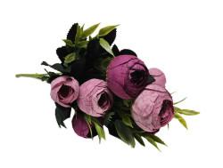 - Çiçek El Buketi Şakayık Modeli Mor