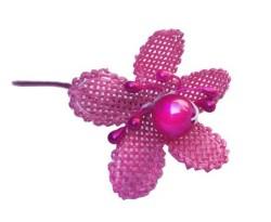 - incili Ve Tomurcuklu Fuşya Çiçek
