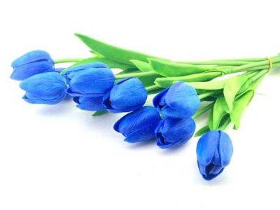 Çiçek Islak Lale Lacivert
