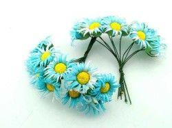 Çiçek Papatya Mavi