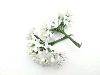 Çiçek Parlak Cipsolu Ve Tomurcuk Krem