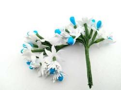- Çiçek Parlak Cipsolu Ve Tomurcuk Mavi