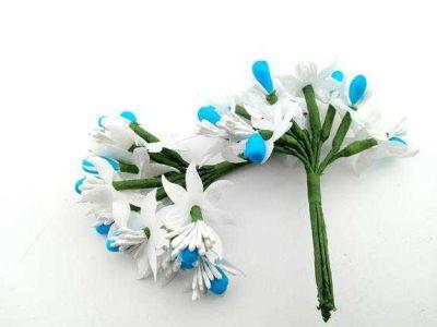 Çiçek Parlak Cipsolu Ve Tomurcuk Mavi