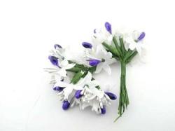 - Çiçek Parlak Cipsolu Ve Tomurcuk Mor