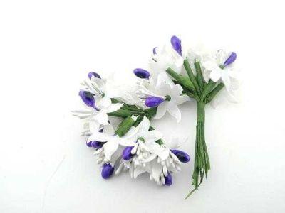 Çiçek Parlak Cipsolu Ve Tomurcuk Mor