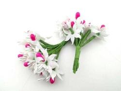 - Çiçek Parlak Cipsolu Ve TomurcukFuşya