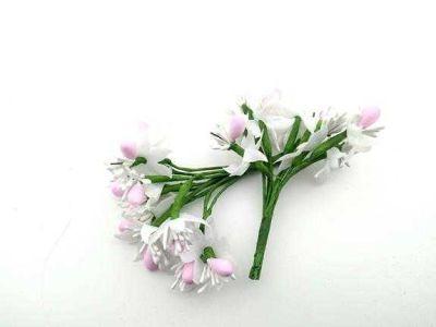 Çiçek Parlak Cipsolu Ve TomurcukPembe